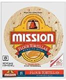 Mission Large Burrito Flour Tortillas, 8 Tortillas, 20 Oz. Bag