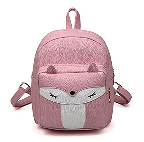 (Cute Mini Leather Fox Fashion Backpack Small Daypacks Purse for Girls )