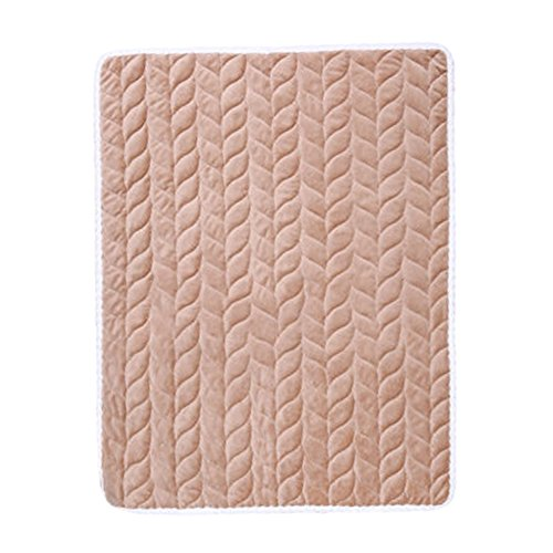 Liveinu Plush Fleece Incontinence Underpads Waterproof Reusable Incontinence Bed Pad Washable Incontinence Underpads 8 Cups Absorbency Mattress Protector for Adults, Kids and Pets Brown 15.6