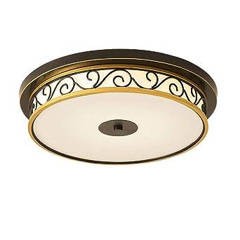 Retro LED Luz de techo Luz de techo Hierro forjado Metal ...