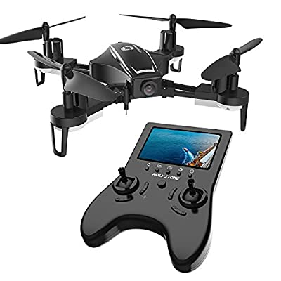 Holy Stone HS230 RC Racing FPV Drone with 120° FOV 720P HD Camera Live Video 45Km/h High Speed Wind Resistance Quadcopter with 5.8G LCD Screen Real Time Transmitter Includes Bonus Battery from Holy Stone