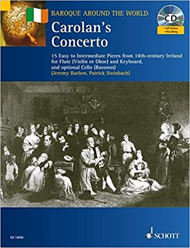 Book Carolan's Concerto for Flute and Keyboard Optional Cell Book/CD 15 Easy-Intermediate (Baroque Around the World Series)