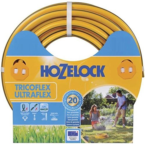 Hozelock Tricoflex 117042 Gartenschlauch Ultraflex, gelb