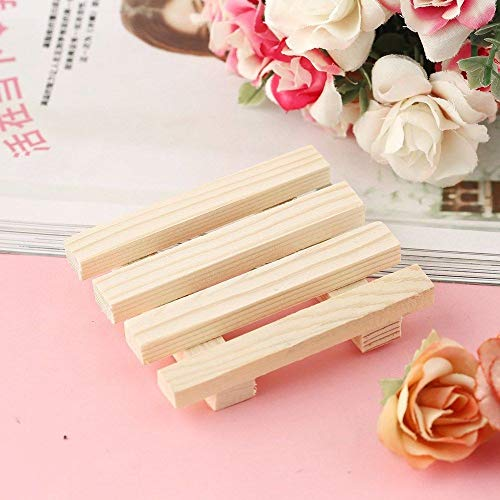 (New Wood Wooden Soap Dish Storage Unique Tray Holder Bath Shower Plate Bathroom HM)