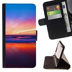 Momo Phone Case / Flip Funda de Cuero Case Cover - Colores en Sunset Beach;;;;;;;; - Sony Xperia Z1 Compact D5503