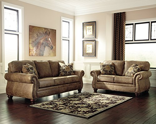 Signature Design by Ashley - Larkinhurst Contemporary Loveseat, Earth