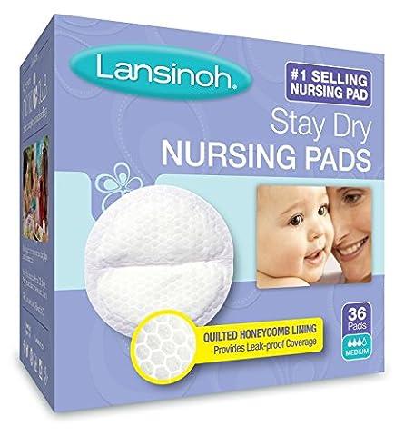 Lansinoh Stay Dry Nursing Pads Medium 36 Each - Lansinoh Disposable Breast Pads