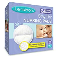 Lansinoh Stay Dry Nursing Pads Medium 36 Each