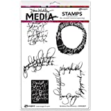 "Ranger Scribbled Text Elements Dina Wakley Media Cling Stamps, 6"" x 9"""