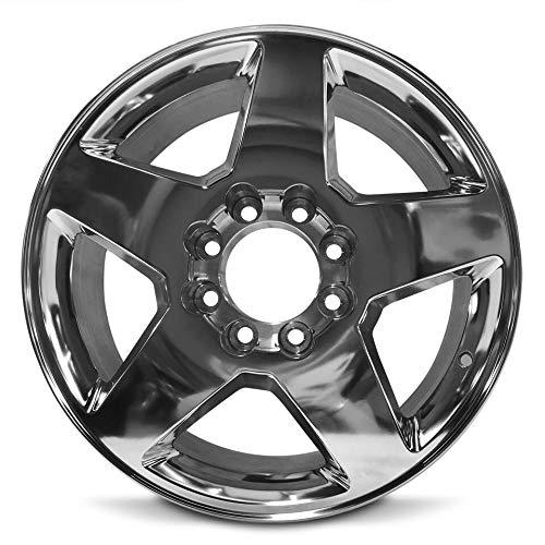 Road Ready Car Wheel For 2011-2015 GMC Sierra 2500 3500 GMC Sierra Denali 2500 3500 Chevy Silverado 2500 3500 20 Inch 8 Lug Polish Aluminum Rim Fits R20 Tire - Exact OEM Replacement - Full-Size Spare ()