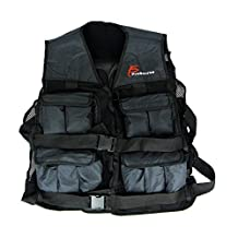 ProSource Weighted Vest Adjustable up to 20 lbs for Men & Women, Fitness Vest for Weight Training, Running, Walking, Bodyweight Workouts
