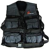ProSource Adjustable Weighted Vest, 20-Pound/One Size, Black