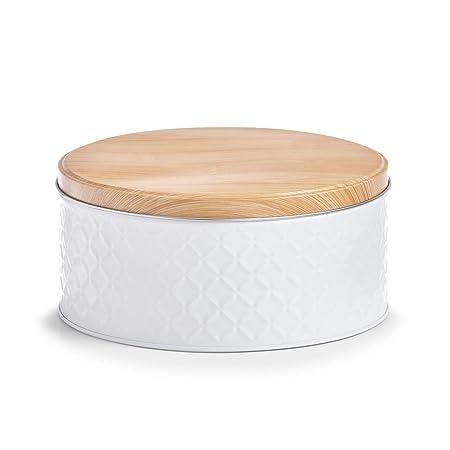 Zeller Caja Scandi, Metal, Color Blanco: Amazon.es: Hogar