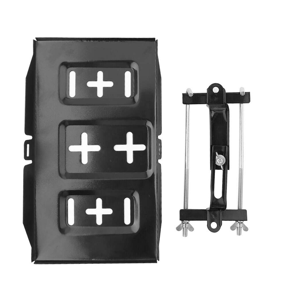 ller76 13.5 x 7.87inch Stable Metal Battery Tray Car Durable Bracket Hold Down Clamp Recessed Slots 34.2 x 20cm//13.5 x 7.87in