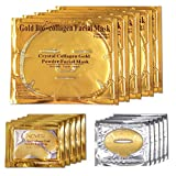 ALIVER 24k Gold Bio Collagen Face Mask, Gold Powder Eye Mask and Lip