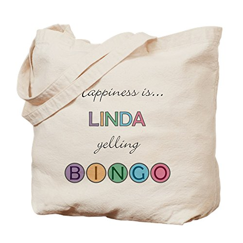 (CafePress Linda BINGO Natural Canvas Tote Bag, Cloth Shopping Bag)