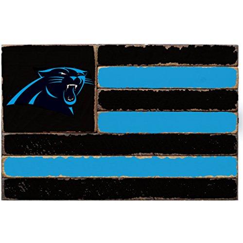 Rustic Marlin Designs NFL Carolina Panthers Team Flag Sign, 13