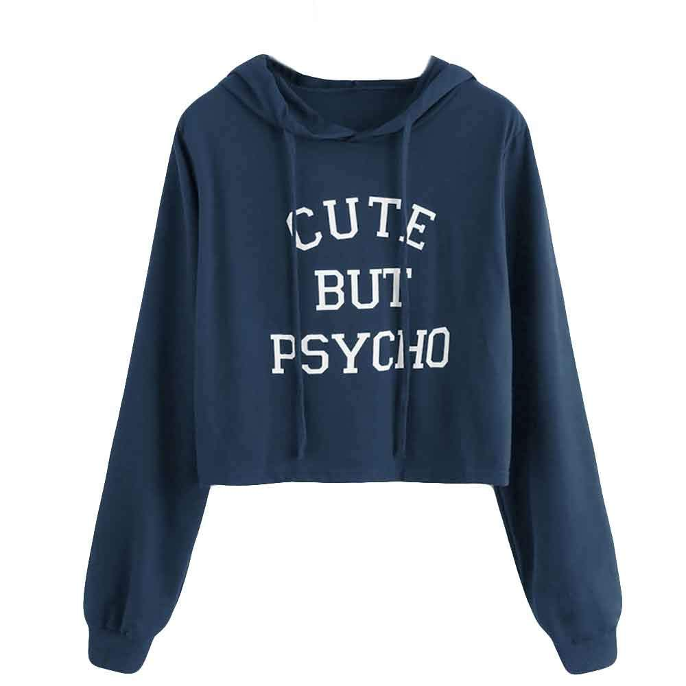 Pullover Damen, Mä dchen Ernte Patchwork Lang Patchwork Kapuzenpullover Frauen Lose Pulli T-Shirt Sweatshirt Lonshell