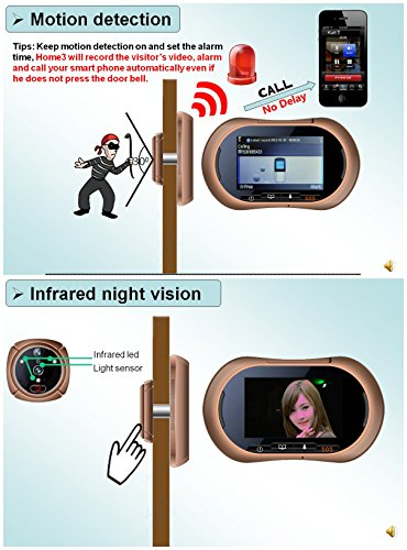 Wifi Digital Peephole Door Viewer Willful 3 7 Quot Lcd Touch