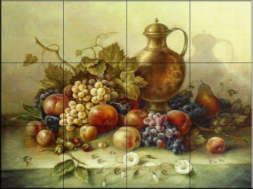 Ceramic Tile Mural - Fruit Bouquet I - by Corrado Pila - Kitchen backsplash/Bathroom shower