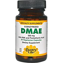 Country Life, DMAE, Coenzymized, 350 mg, 50 Veggie Caps - 3PC