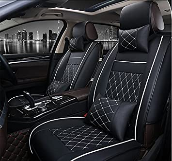 Black Leather Look Car Seat Covers Cover Set For Chevrolet Matiz 2005-2009