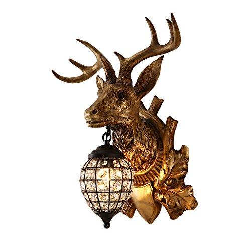 AO-Lamp American Deer Head Lámpara de Pared Living Room Retro Decoration Lámpara Bar Craft Light