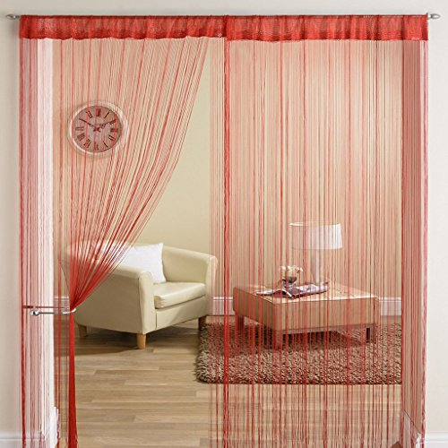 Super India Threads String Curtain 1 Piece – 6ft , Red