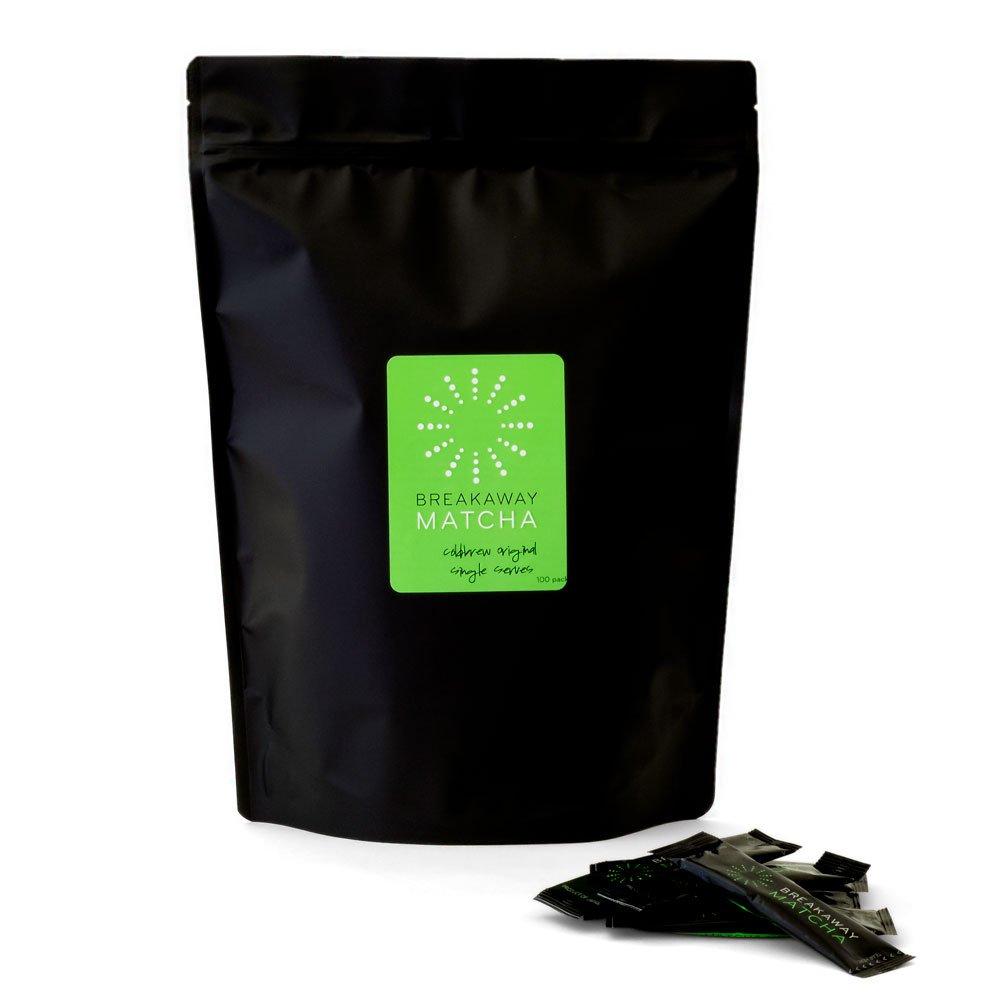Matcha Tea To-go - Coldbrew Original Iced Green Tea Powder Single Serving Packets - 100 Pack