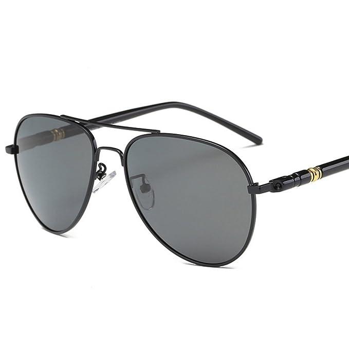 Kennifer El Aviador para Hombre Retro Polarizadas las Gafas de sol Forman el Marco del Metal