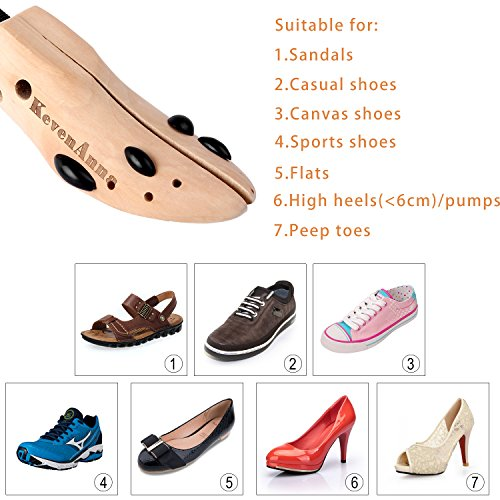 KevenAnna Premium Professional Two-way Shoe Stretchers x 2 for LADIES and MEN-available in Small,Medium,Large Size (Large) by KevenAnna: Amazon.es: Hogar