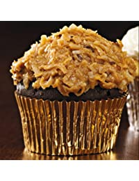 Want 180 Gold Foil Cupcake Liners Baking Cups Cake Cupcake Candy Cookie Decorations online