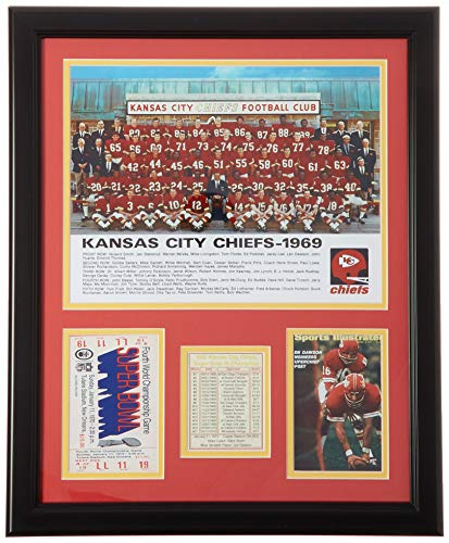 Legends Never Die 1969 Superbowl IV Champion Kansas City Chiefs - Posed - Framed Photo Collage, 16