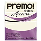Premo Sculpey Polymer Clay 2 Ounces-White Translucent (PE02 5527)