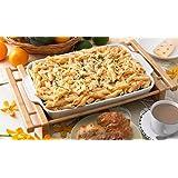 "Creative Home 73458 Grand Buffet 13x9"" Stoneware Rectangular Lasagna/Roaster Dish with Bamboo Cradle"