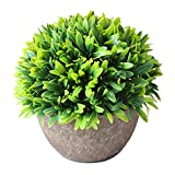 Artificial Flower Tree Fake Potted Plant Artificial Topiary Window Office ...