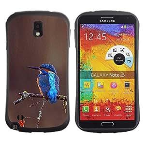 LASTONE PHONE CASE / Suave Silicona Caso Carcasa de Caucho Funda para Samsung Note 3 N9000 N9002 N9005 / songbird tropical brown blue branch