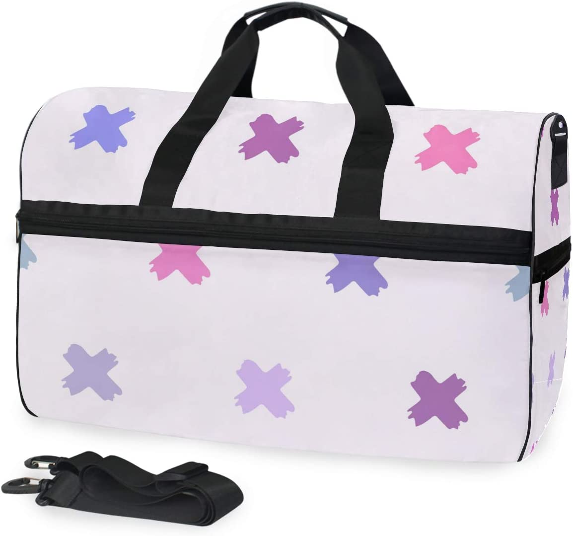 FAJRO Duffle Bag for Women Men Cute Cross Travel Duffel Bag Large Size Water-proof Tear Resistant
