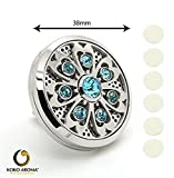 auto aroma - Car Air Freshener Sanitizer Natural Vent Diffuser Stainless Steel Locket for Auto by KOKO AROMA (BLUE)
