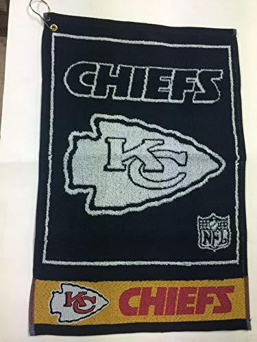 Kansas City Chiefs Golf Towel - Kansas City Chiefs Jacquard Golf Towel with Hook and Grommet