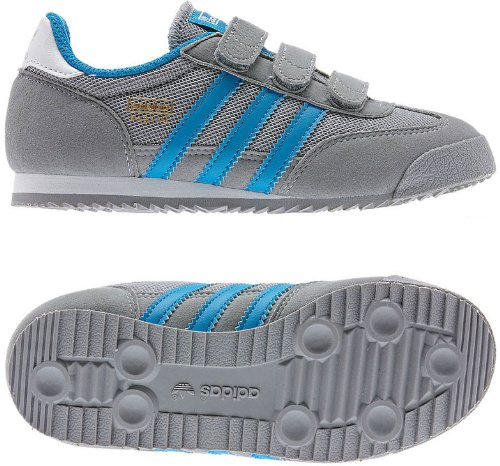 Adidas Dragon CF Infant Boy's Sneakers Grey/Solar Blue/Running ...