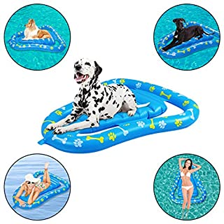 SUNSHINE-MALL Dog Pool Float Inflatable Raft,Swimming Pool Pet Floating Raft for Outdoor Swimming Pool Water Game for Adult Dogs and Puppies,47.2 x 36.2Inch (Avocado)