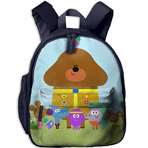 Toddler Kids Hey Duggee Pre School Shoulder School Bag Navy by Fashion Theme Tshirt