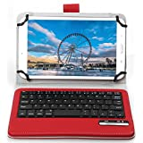 """ASUS Zenpad 8 Z380M Keyboard case, IVSO ASUS Zenpad 8.0 Z380M Case With Keyboard Ultra-Thin High Quality DETACHABLE Bluetooth Keyboard Stand Case / Cover for ASUS Zenpad Z380M-A2-GR 8"""" Tablet(Red)"""
