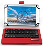 IVSO Asus Zenpad Z10 ZT500KL Keyboard Case - ASUS ZenPad 3S 10 Case with Keyboard Ultra-Thin Detachable Wireless Keyboard Stand Case/Cover for ASUS Zenpad Z500M 9.7-Inch Tablet(Red)