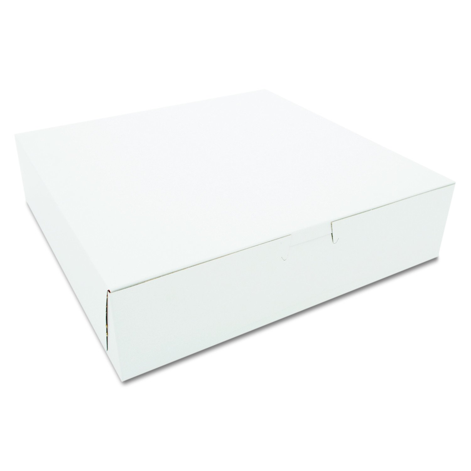 Southern Champion Tray 0969 Premium Clay Coated Kraft Paperboard White Non-Window Lock Corner Bakery Box, 10'' Length x 10'' Width x 2-1/2'' Height (Case of 250)