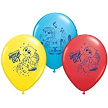 """Qualatex 12"""" Round Latex Balloons Officially Licensed Disney Inside Out, 6-Count"""