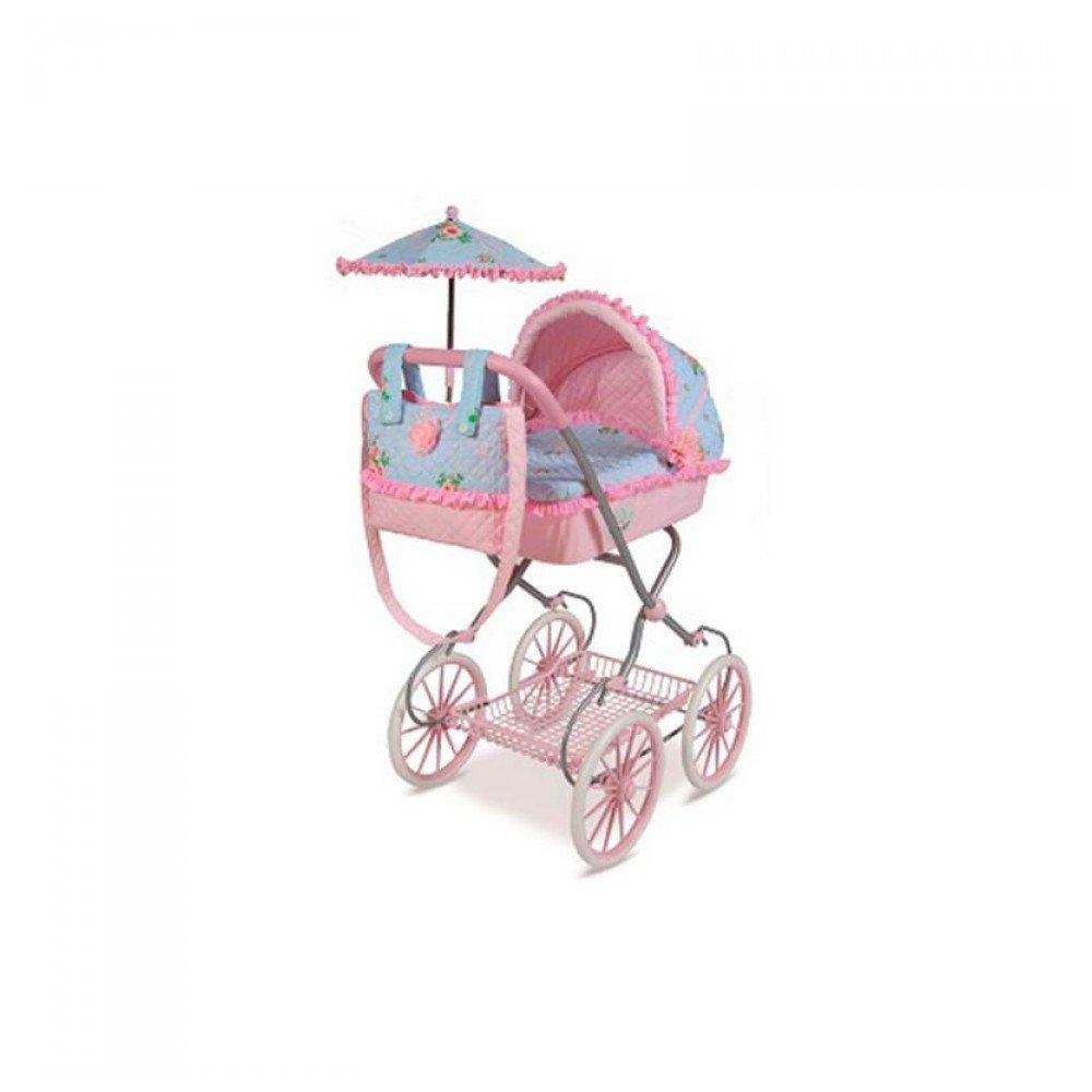Decuevas Toys - Muñeca Triana, Coche con Bandeja, Bolso y sombrilla, 42x68x81 cm: Amazon.es: Juguetes y juegos
