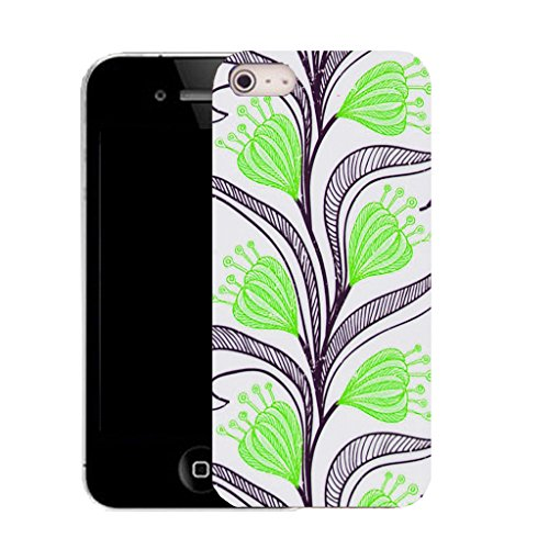 Mobile Case Mate IPhone 5 clip on Silicone Coque couverture case cover Pare-chocs + STYLET - naughty floral pattern (SILICON)