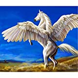 magnificent peacock wall mural Yeefant Magnificent Pegasus Mural Diamond Painting Kits for Adults,5D DIY Rhinestone Embroidery Paintings Full Drill by Number Sets for Home Livingroom Bedroom Wall Decor Artcraft-12x16inch